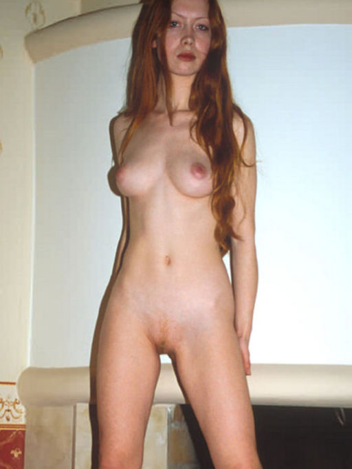 Naked middle woman red aged head
